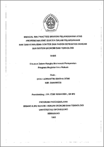 Dissertation medical negligence