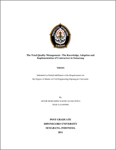 Thesis on tqm total quality management