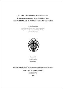 Nugget Jamur Tiram (Pleurotus ostreatus) Sebagai ...