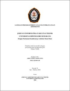 Jurusan Informatika Fakultas Teknik Universitas Diponegoro Semarang Diponegoro University Institutional Repository Undip Ir