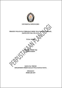 Persepsi Wisatawan Terhadap Objek Wisata Pantai Sorake Kabupaten Nias Selatan Diponegoro University Institutional Repository Undip Ir