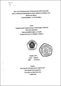thesis kinerja